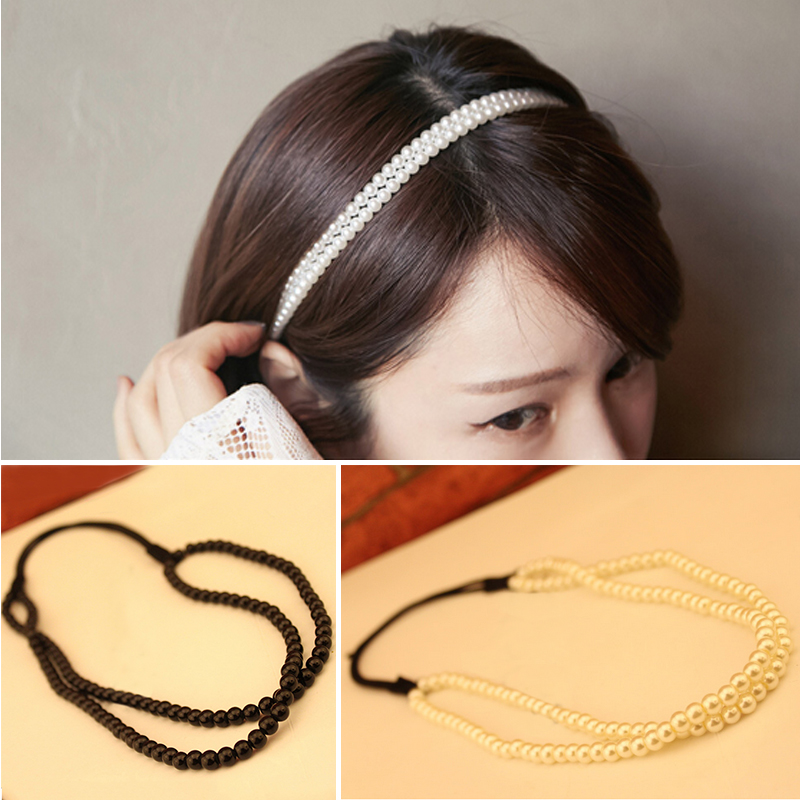 Handmade Simulated Pearl Hairbands Fashion Hair Accessories Headpiece