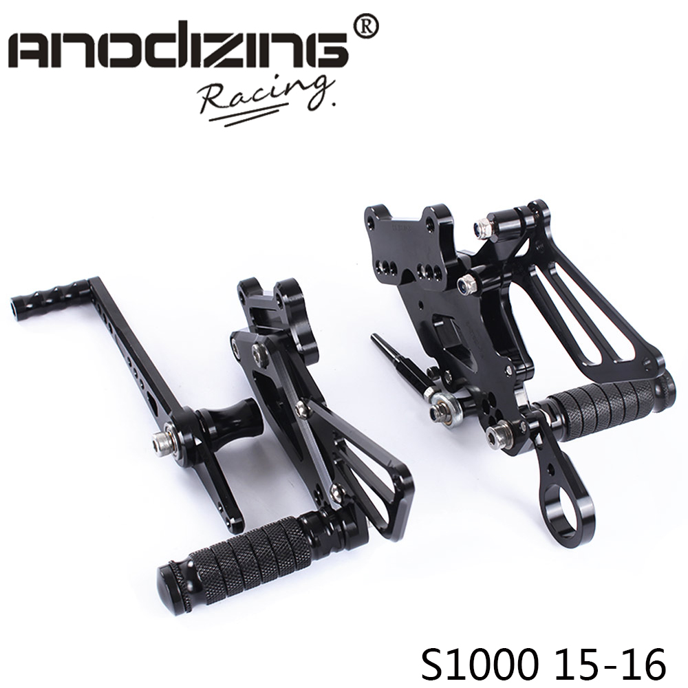 ФОТО Full CNC aluminum Motorcycle Rearsets Rear Set For BMW S1000RR 2015-2016