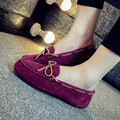 Woman Flats 2016 Genuine Leather Women Shoes Slip On Flat Shoes Plus Size 35-43 Loafers purple, pink, blue Moccasins huarche