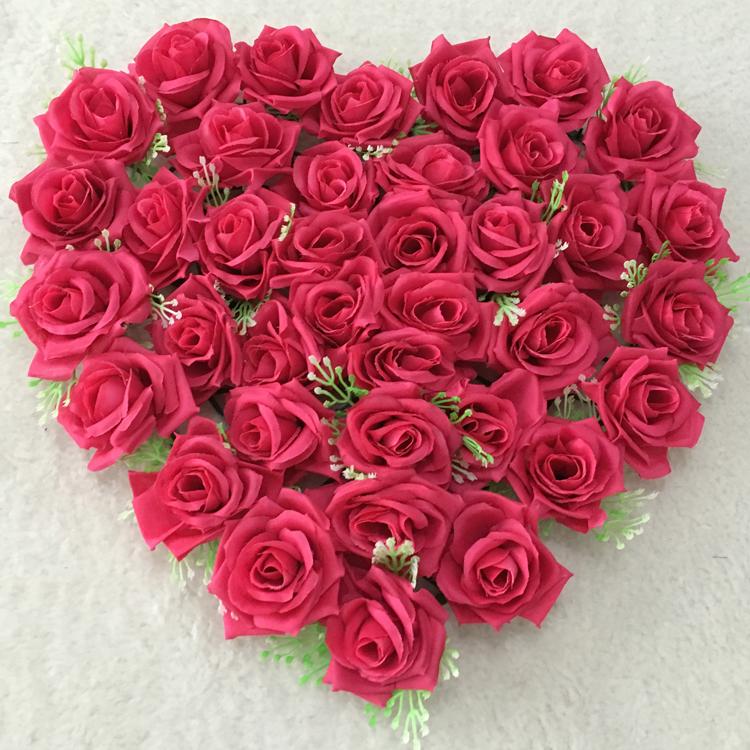40x38cm multicolor artificial silk heart shape lovely rose flower size4038cm mightylinksfo