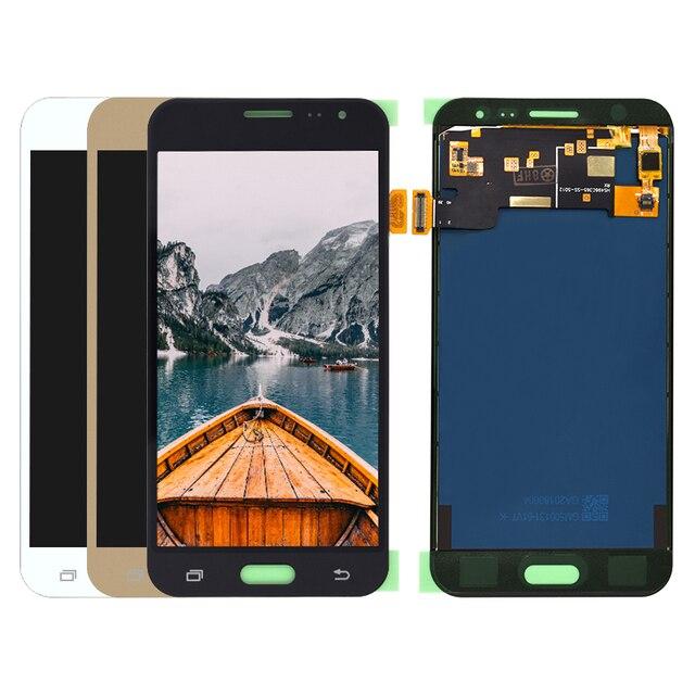 لسامسونج غالاكسي J3 2016 J320 J320F J320M J320FN شاشة الكريستال السائل مجموعة المحولات الرقمية لشاشة تعمل بلمس قطع غيار سامسونج J3 LCD