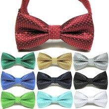 Модный цветной галстук-бабочка для свадебной вечеринки, галстук-бабочка для домашних питомцев Галстуки для смокинга, детский официальный хлопковый галстук-бабочка, Детские классические галстуки-бабочки в горошек
