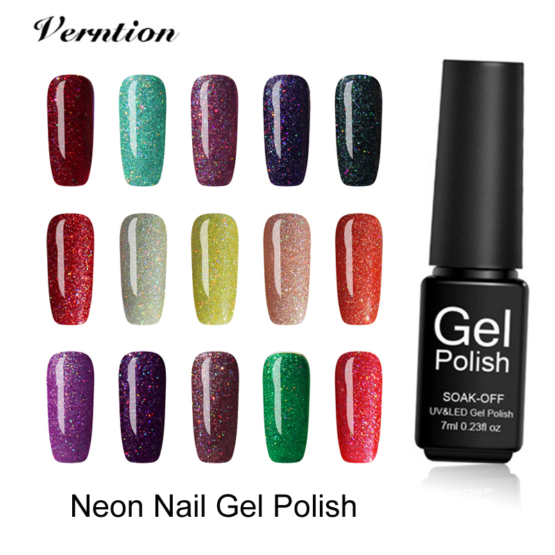 Verntion Neon Hybrid Nail Polish Lucky 3d Gel Long Lasting