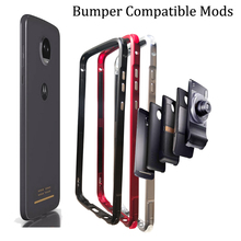 Bumper Case for Moto Z4 Compatible Mods Aluminum Metal Shockproof Frame cover motorola