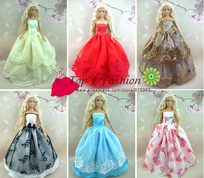 Baby flicka barn födelsedagspresent 5st klänning Dolls bröllop - Dockor och tillbehör - Foto 4