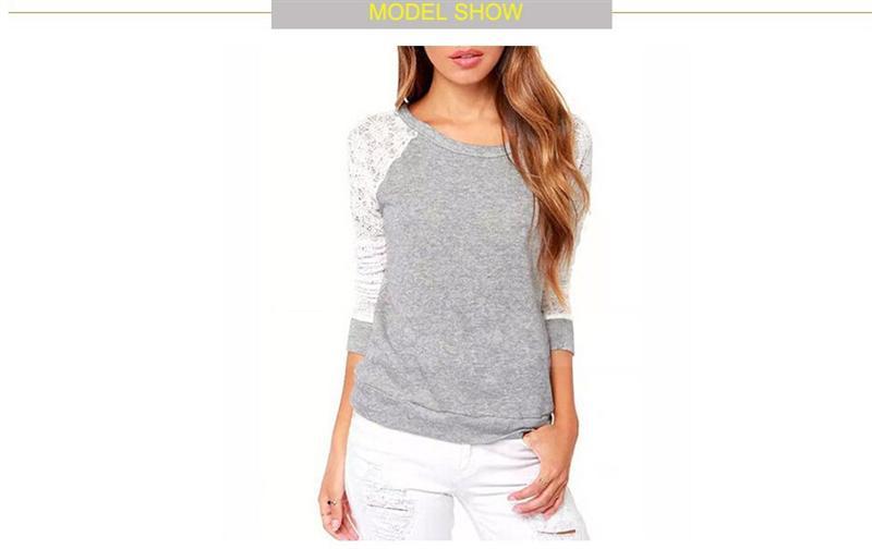 Wiosna Kobiet Bluzy Jesień Backless Haft Lace Casual Bluzy Kobiet Bluzy Z Długim Rękawem Topy Damskie 2