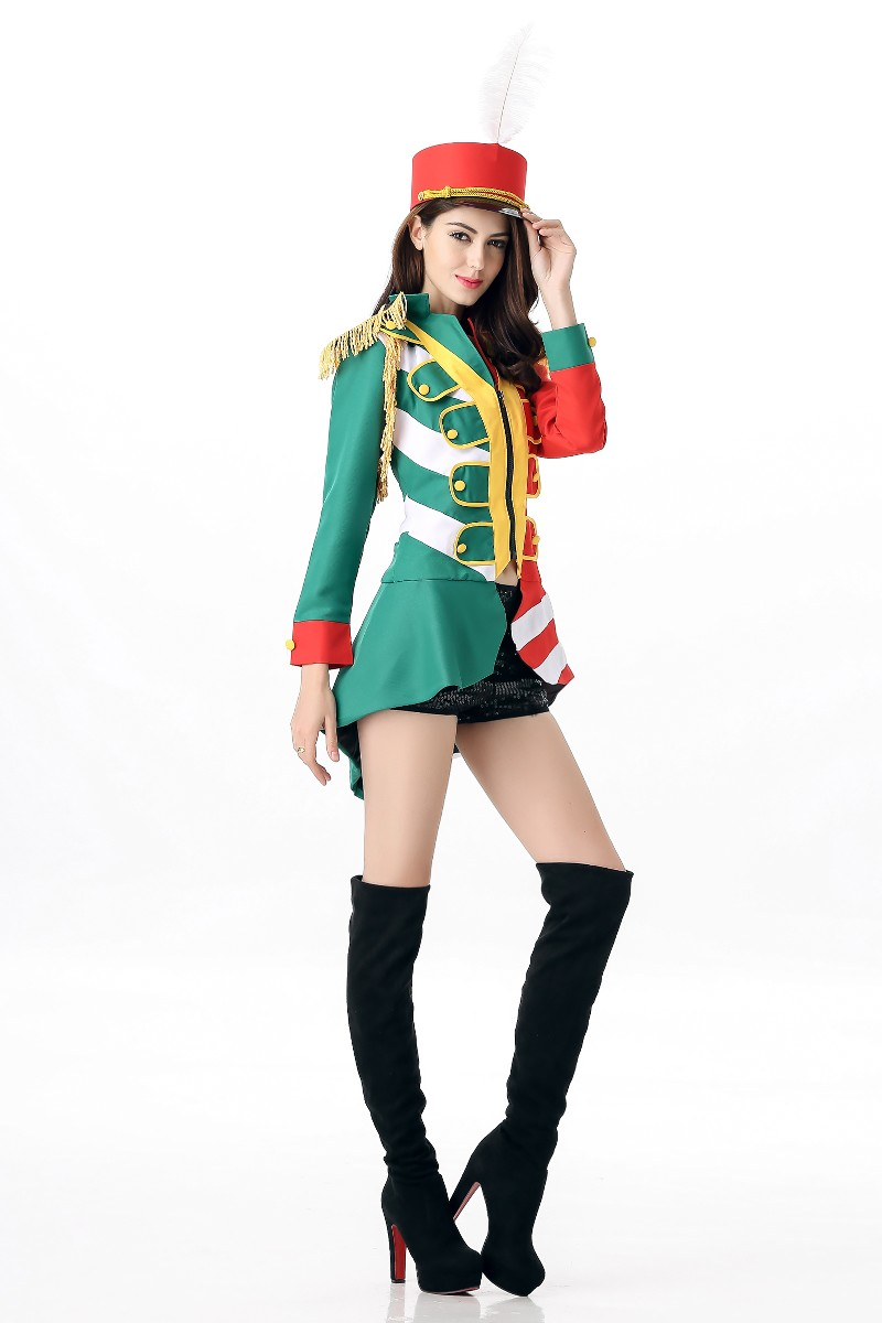 halloween costume cosplay honour guard sexy uniforms role play jazz performance stage dancewear drum band clothing - Band Halloween Costumes