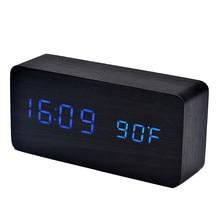 1 шт цифровой мультфифункциональные часы звуки Управление светодиодный электронный настольный цифровой будильник голосового Управление часы D320