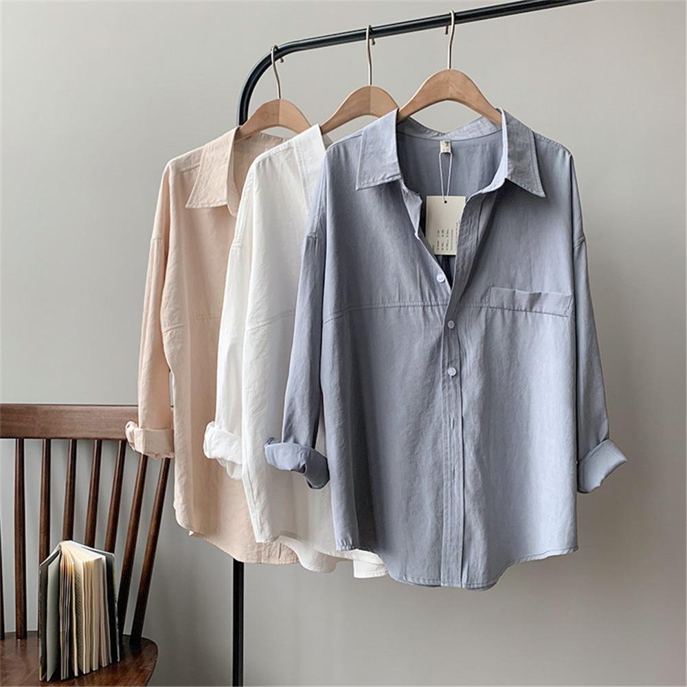 Vintage Women Blouse Shirts 2019 Autumn Korean Long Sleeve Women's Tops Blouses Blusas Roupa Feminina Tops High Quality Y6523 (22)