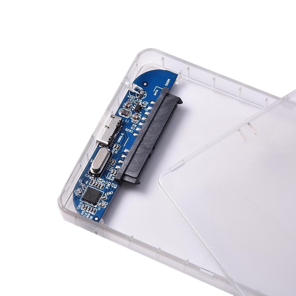 Carcasa de disco duro de 2,5 pulgadas funda de disco duro USB3.0 SATA3.0 carcasa HDD externa compatible con protocolo UASP de transmisión de 3TB
