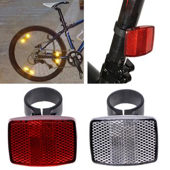 Rowerowa kierownica rowerowa reflektor odblaskowa przednia tylna lampka ostrzegawcza soczewka bezpieczeństwa tanie i dobre opinie OOTDTY Plastic Odblaskowe naklejki Rear Reflector Clamp (on the seatpost) 28 6mm piece 0 07kg (0 15lb ) 30cm x 20cm x 10cm (11 81in x 8 66in x 3 94in)