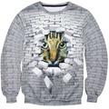 2016 new fashionable men/women of bricks cat hoodie / 3 d animation autumn winter sweatshirts garment harajuku animal jerseys