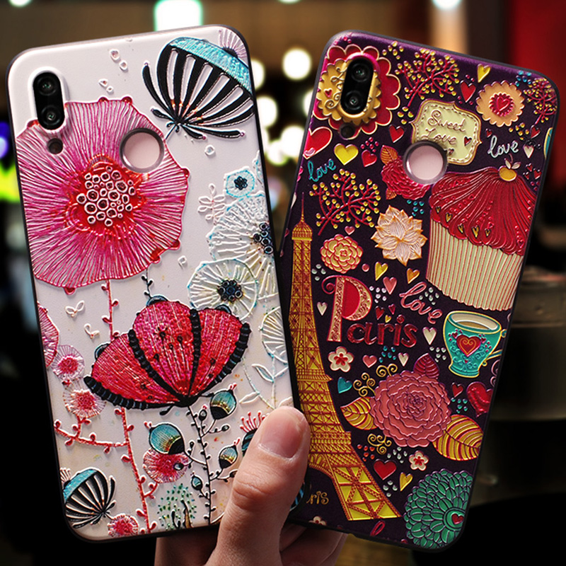 buy popular d584c 77d9e Totviss Coque,Cover,Case For Huawei Nova 3 Nova 3I Case For Huawei Nova 3E  3I Back Etui 3D Cute Luxury Original Mobile Cases