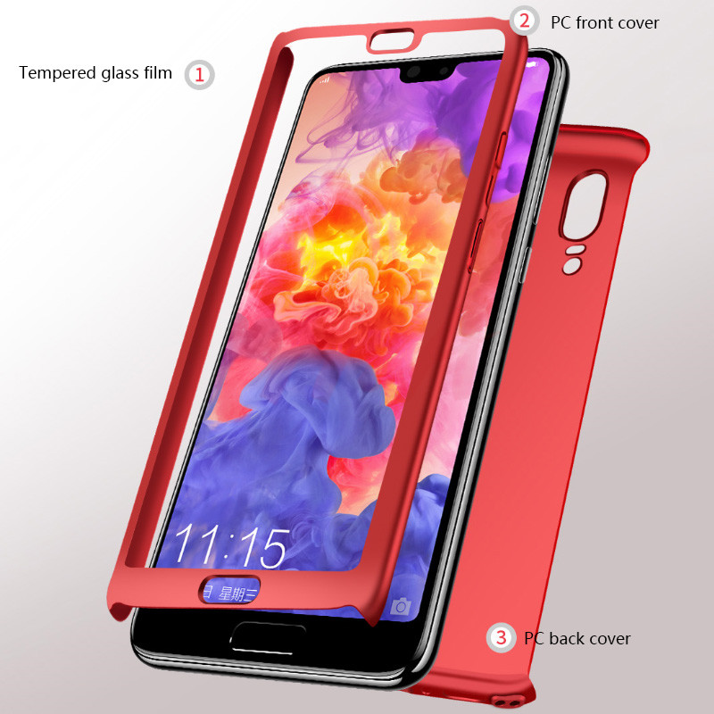 Image 2 - H&A 360 Full Cover Phone Case For Huawei Mate 20 10 P20 Lite Pro P10 P9 P8 Lite PC Protective Cover P20 P9 Case Cover Fundas-in Fitted Cases from Cellphones & Telecommunications