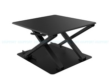 LD04 Ultra thin EasyUp Height Adjustable Sit-Stand Desk Riser Foldable Laptop Desk Stand Notebook/Monitor Holder Stand
