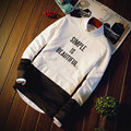 New arrival 2017 warm hoodies men simple is beautiful print brand clothing sweatshirts male top quality men hoodies
