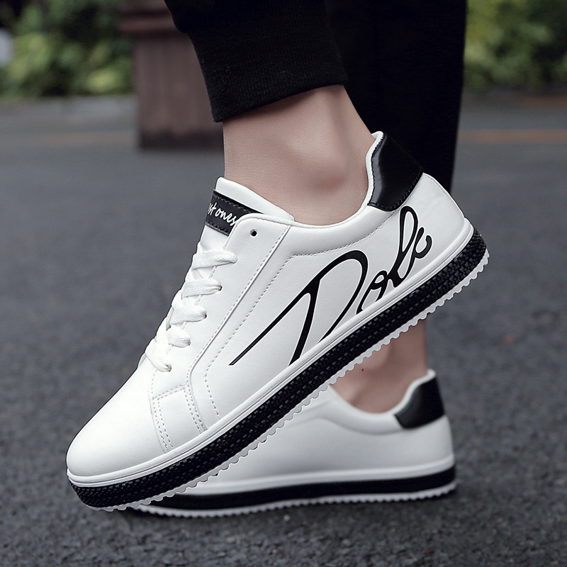 Fooraabo Men Casual Shoes Adult Spring Autumn Classic Fashion Male Lace Up Flats Comfortable Sneakers Mens 2018 Tenis Masculino cirohuner leather casual men shoes male lace up flats black men krasovki flat heel sneakers tenis masculino comfortable shoes