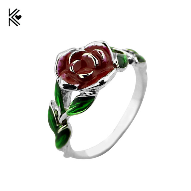 2017 Beauty and the beast Roses Ring Jewelry Men and Women of the ...