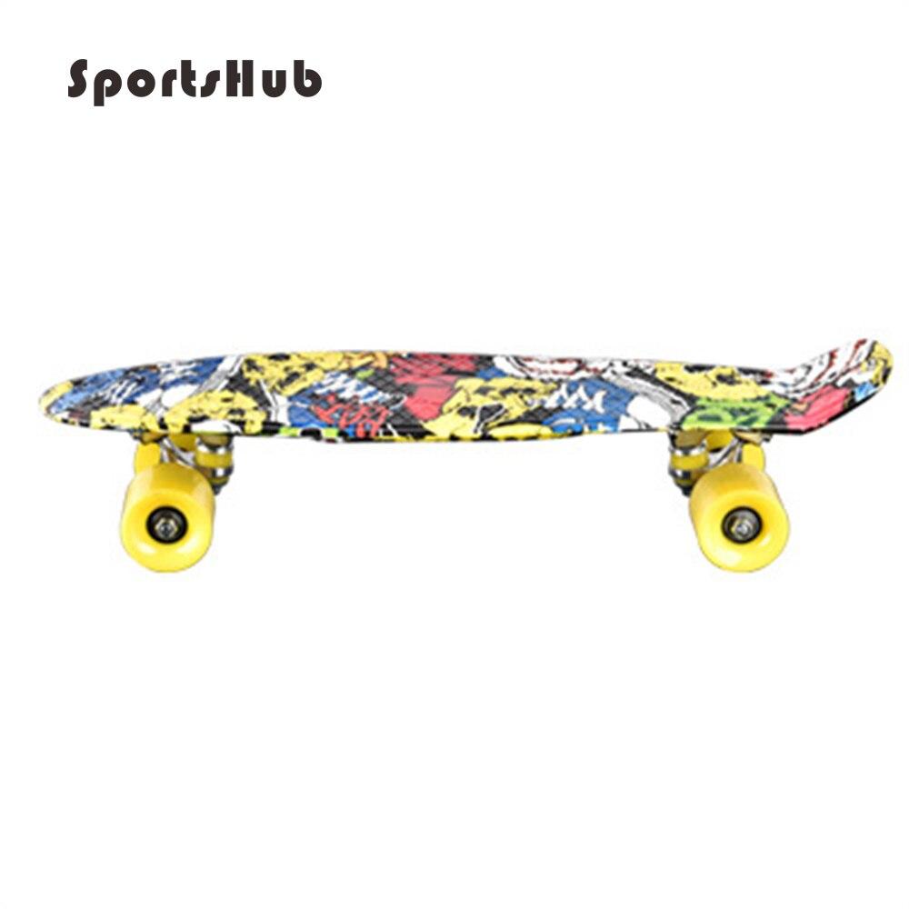 SPORTSHUB 56*9.5*13.5 CM extérieur Amateur PP planche à roulettes pour enfants avec roues en polyuréthane et Support en alliage d'aluminium planche à roulettes pour enfants CS0004