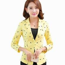 Elegant Womens Blazers Long Sleeve Casual Plus Size Korean Slim Cape Blazer  Feminino Printed Working Jacket Woman Coat X50065 69420e813410