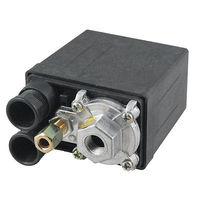 One Port Air Compressor Pressure Switch Control Valve 175 PSI 12 Bar Black