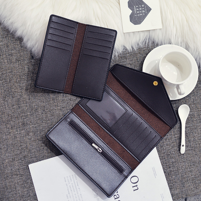 Trifold Leather Clutch Purse 4