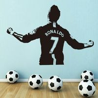 Art Design Cheap Home Decoration PVC Football Player Messi Wall Sticker Removable Vinyl House Decor Soccer
