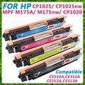 Compatível CE310A CE311A CE312A CE313A, color cartucho de toner para hp cp1025 cp1025nw, M175 M275 MFP M275nw impressora
