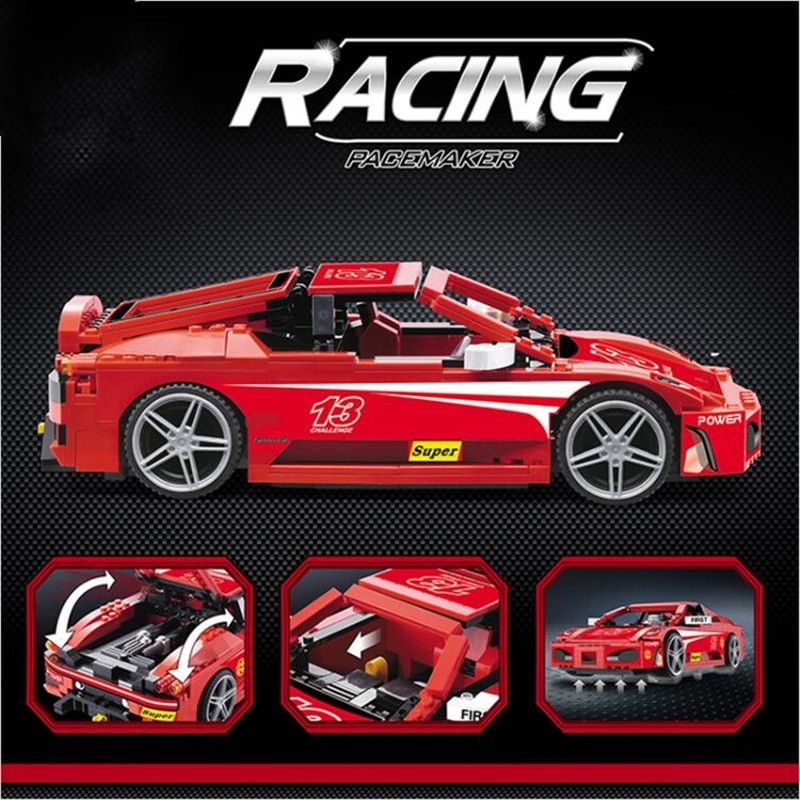 8613 Technic F430 Challenge 1:17 building bricks Toys for children Game Model Car Gift Compatible with Bela 8143