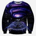 Mais novo galaxy espaço impresso hoodies Camisolas dos homens 3d criativo Outono novidade 3D psicodélicas roupa hoody