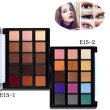 Модные 15 цветов Shimmer матовый натуральный Тени для век палитры Блеск пигмент косметика макияжный инструмент для теней DL