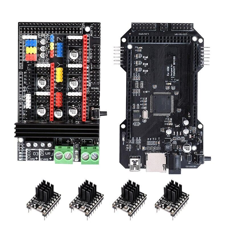 Plaque d'adaptation BIQU R6/Ramps1.6 Plus avec carte mère re-arm + A4988/TMC2208/TMC2130 moteur pas à pas pour carte de rampes RepRap