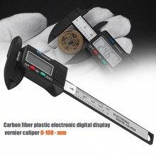 Big sale Mini Digital Caliper 0-100mm/0.2mm Carbon Fiber Composites MM & Inch Vernier Caliper Measuring Tools Measure Accessories