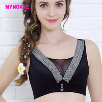 Donne sexy reggiseno push up XXX più il formato bralette bras big formato della biancheria intima morbido pizzo lingerie V segreto crop top 95 C