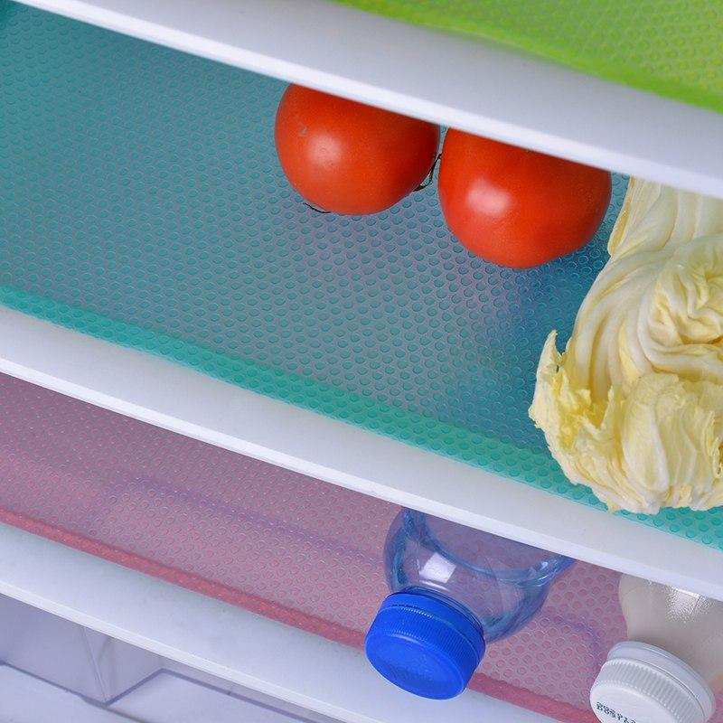 4 Tapis antibactérien et moisissure étanche pour réfrigérateur
