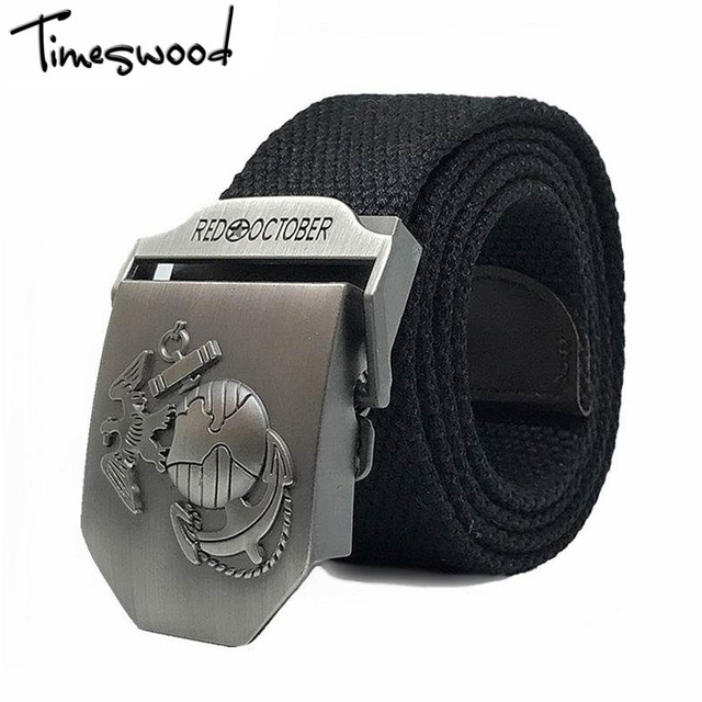 Timeswood marca ee.uu. cinturones ejército marines hebilla tela lona  Militar cintos cinturones ejército 7c280d39e1ae
