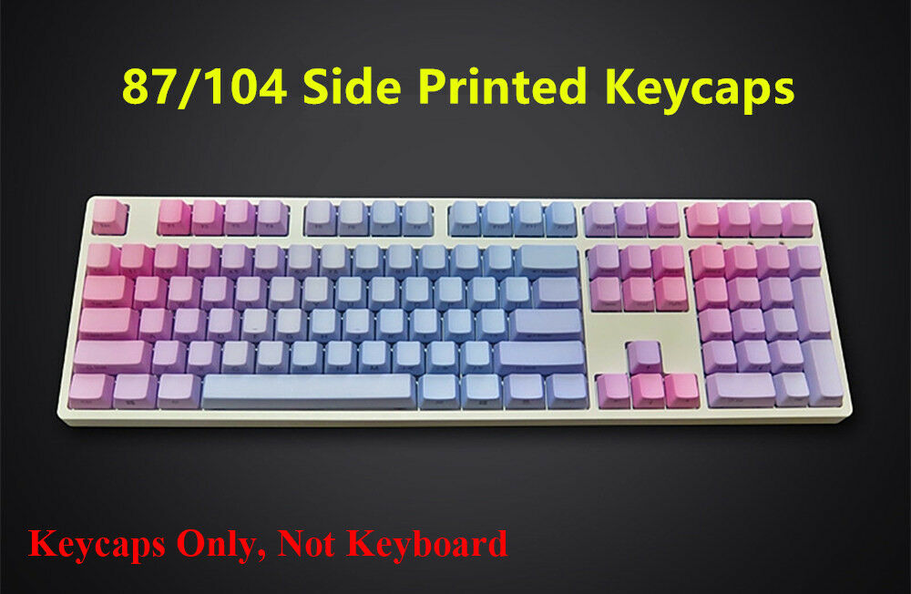 87/104 Keys PBT Gradient Blue Red Keycap ANSI OEM Profile Keycaps Key Cap Set for Cherry MX Mechanical Gaming Keyboard87/104 Keys PBT Gradient Blue Red Keycap ANSI OEM Profile Keycaps Key Cap Set for Cherry MX Mechanical Gaming Keyboard
