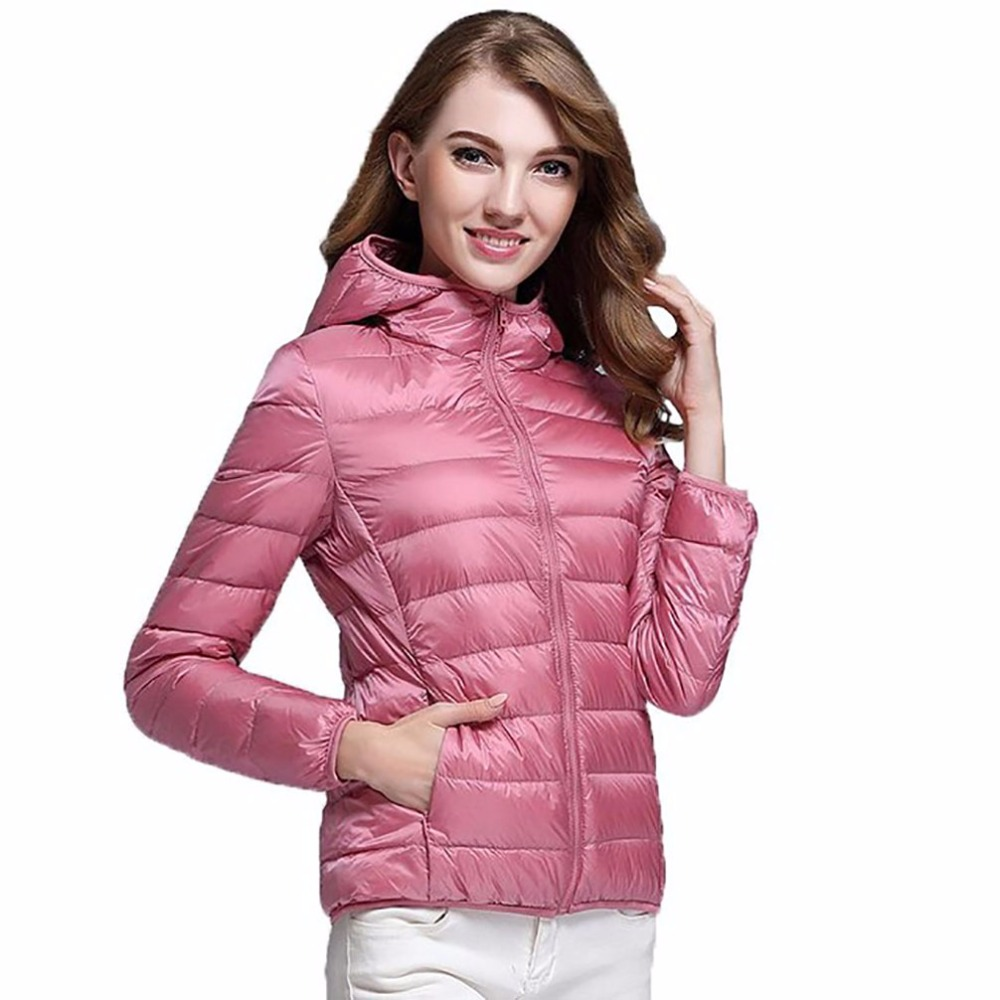Double-sided wear Brand female Parkas 90% white duck   down   jacket women winter hooded Slim short Warm   Coat   Clothing Plus size