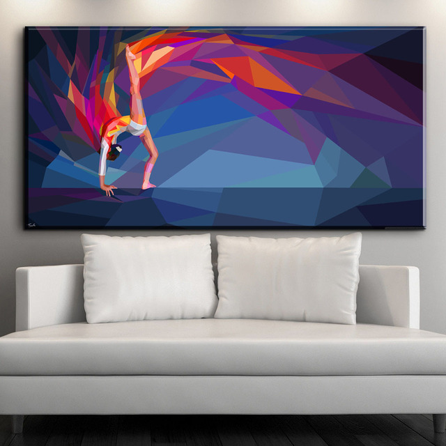 Superb Canvas Paintings Part - 11: ZZ2124 Modern Abstract Sports Girl Artistic Gymnastics Canvas Paintings  Home Deco Wall Art Print Picture Poster