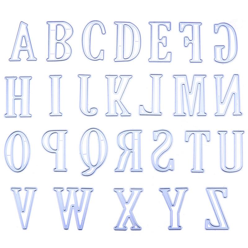 Aliexpress Com Comprar 5 Cm Letras Alfabeto Metal Corte Troqueles