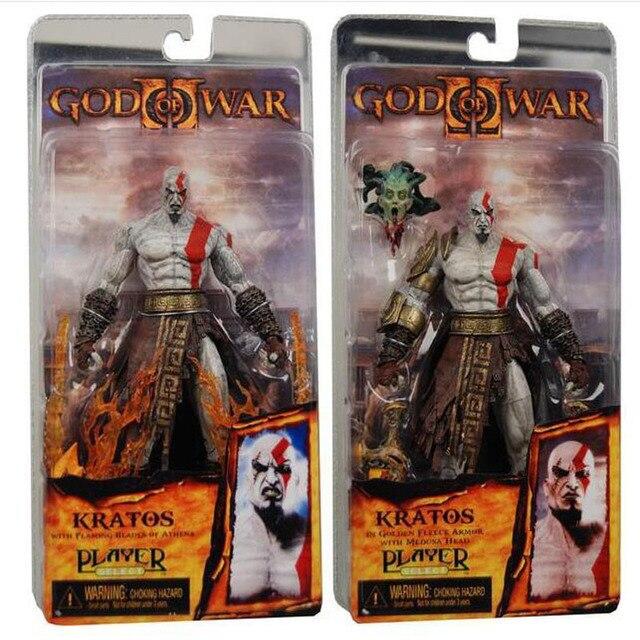 Nova 1 pcs NECA God of War Kratos em Golden Fleece Armadura com Medusa Cabeça PVC Action Figure Model Collection brinquedos