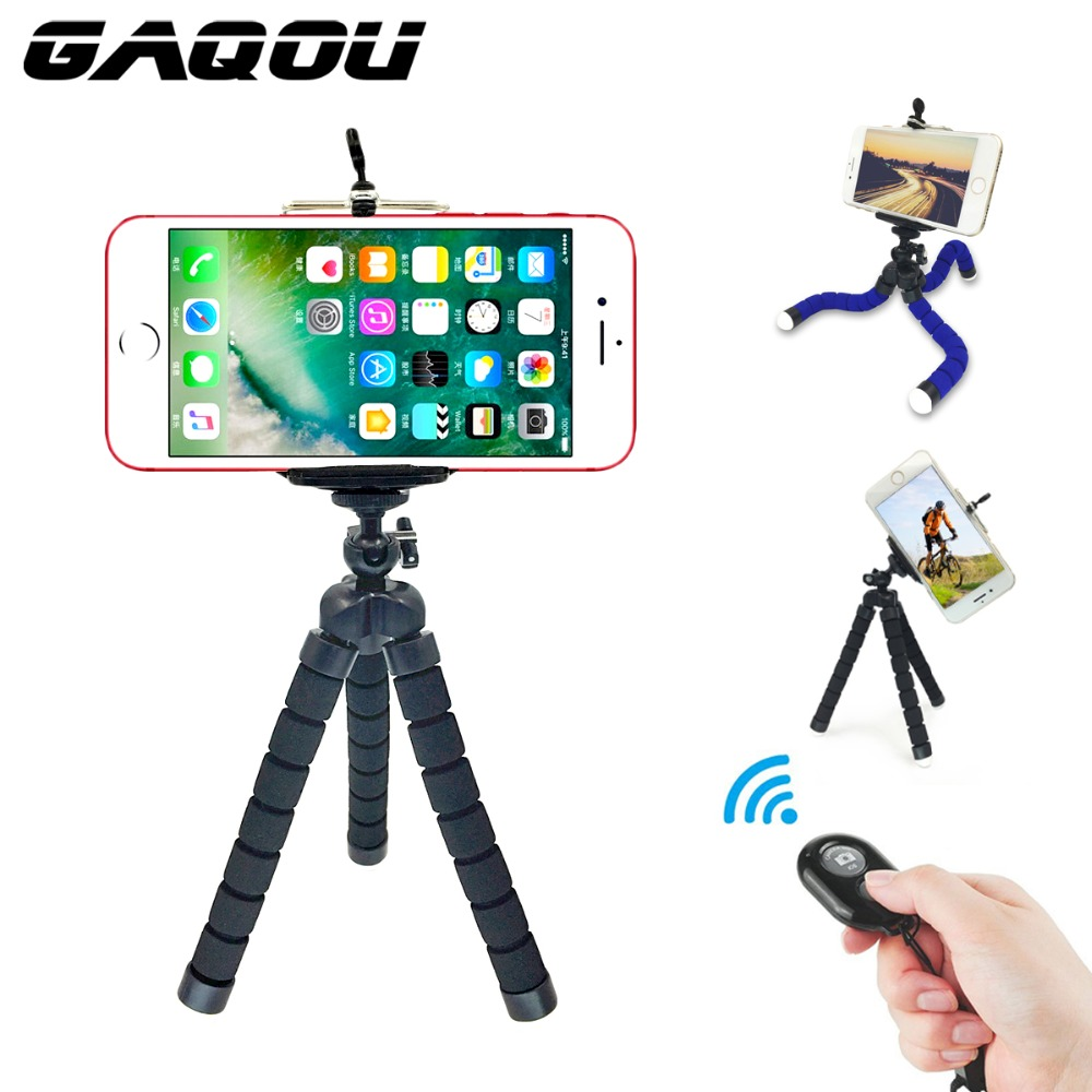 GAQOU 3 i 1 med fjernkontroll Mini Fleksibel montering Holder Kamera Telefon Octopus Stativholder Stativ Holder Mount For Gopro