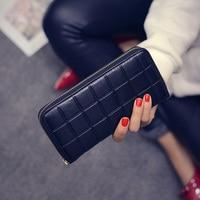 New Women Long Wallet Pressure Box Wallet Lady Zipper Wallet Fashion Handbag Big Capacity Wallet