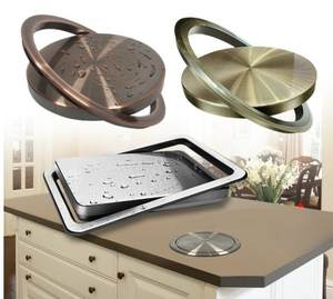 best Stainless Steel Flush Recessed Built-in Balance Flap Lid Cover Trash Bin Garbage Can Kitchen Counter Top