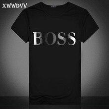 925804c65e XWWDVV Marke T Shirt Männer 2019 Neue Mode Boss Brief Gedruckt Modische  Rundhals T-shirts