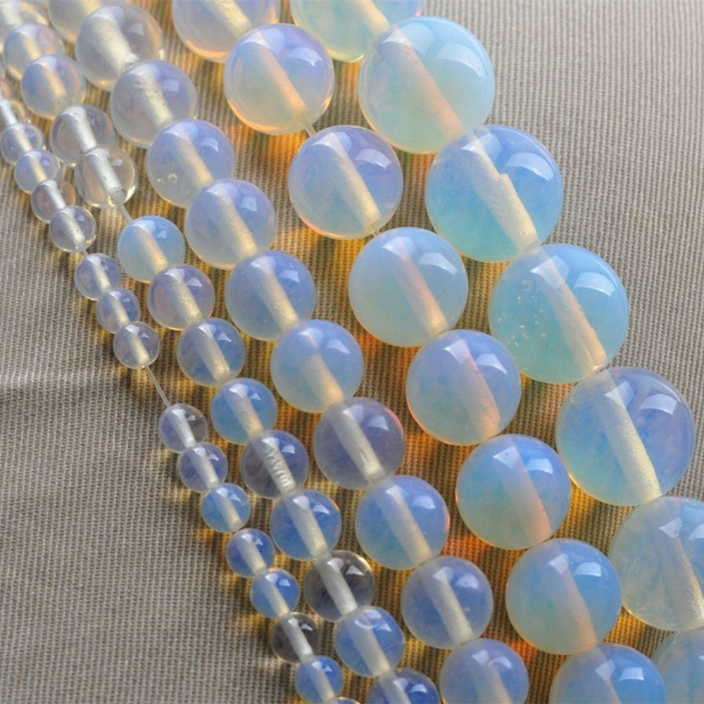 LNRRABC New Arrival 4/6/8/10/12mm DIY Round Clear Moonstone Hand Made Stone Bead Jewelry Accessories For Necklace/Bracelet