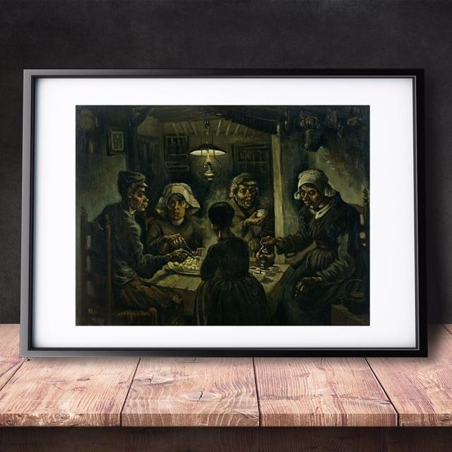 de aardappel eaters 1885 van gogh canvaskunst schilderen poster muur foto voor kamer home decoratieve slaapkamer