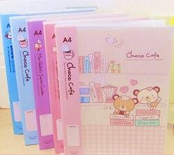 حقائب الكرتون مدرسة رقة ورقة الملف الإيداع لطيف الكورية مكتب المدرسة الايداع المنتجات مع 20 صفحات داخل