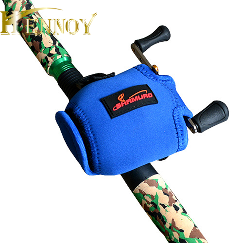 Hennoy 1 pcs Fishing Reel Cover Nylon Protective Case Reel Cover for Drum Reel Baitcasting Reel case