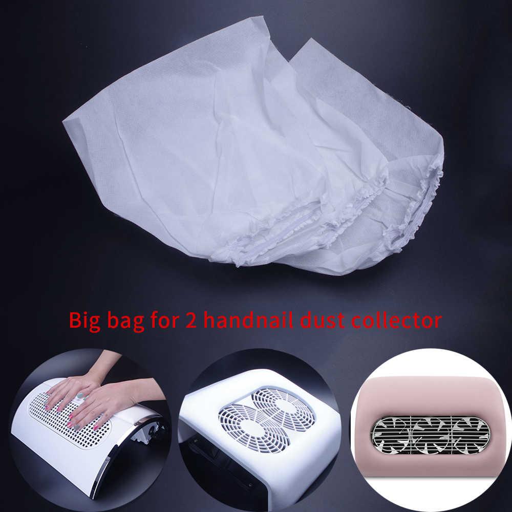 3 pcs/5 pcs לבן שאינו ארוג נייל אבק אספן תיק עבור נייל אמנות אבק יניקה אספן שימוש נייל החלפת תיק מניקור סלון
